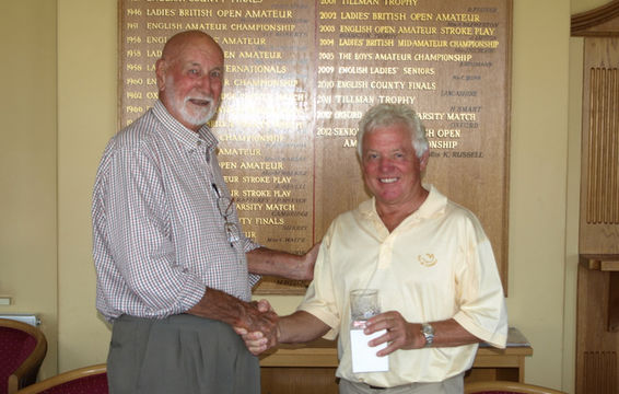 Phil Platten of Woodbridge GC, Winner of Age Group 'C'.
